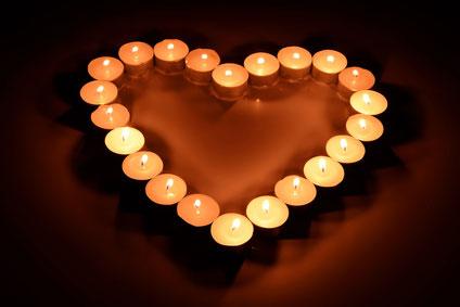 Coeur en bougies