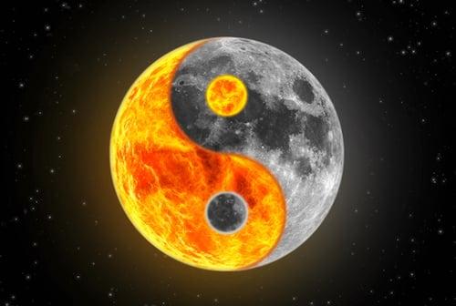 Lune yin yang